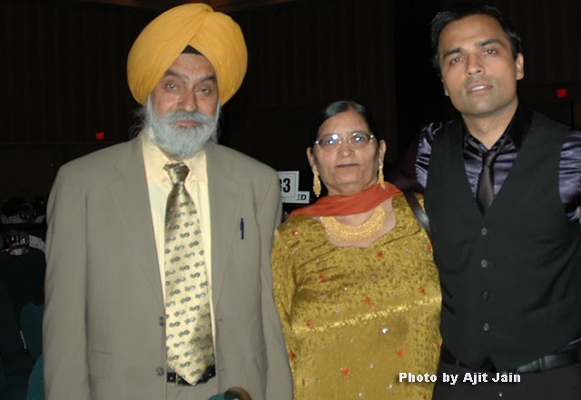 Gurbaksh Chahal with his parents