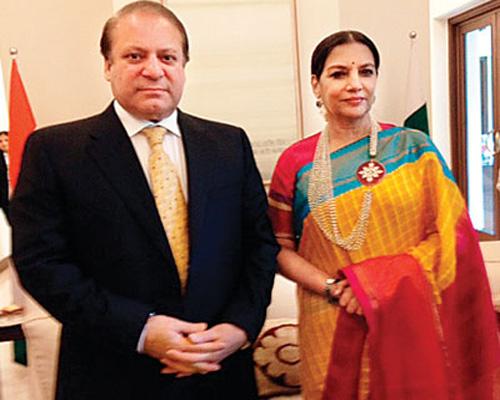 Shabana Azmi meets Nawaz Sharif for tea