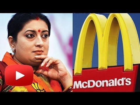 Smriti Irani was once a sweeper at McDonald's