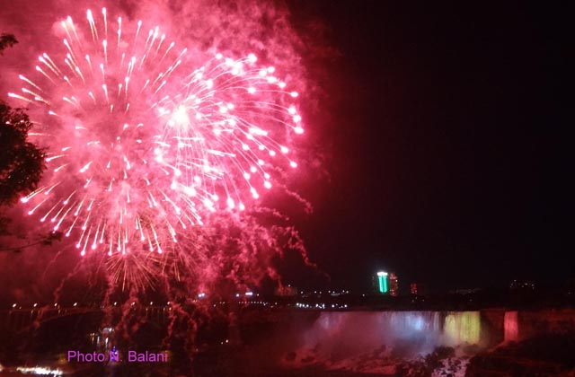 Summer night fireworks turn Niagara Falls into a wonder of the world