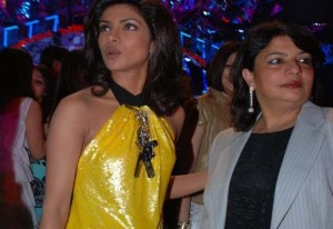 Priyanka with mom