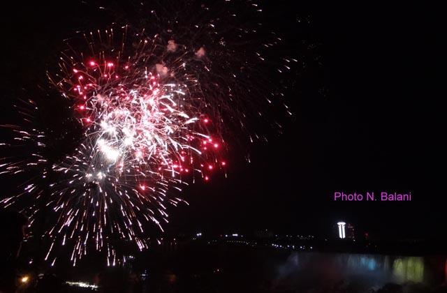 Summer night Diwali at Niagara!