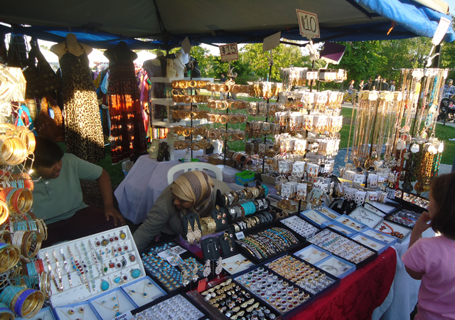 A curio stall at the fest last year.