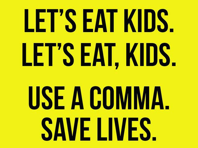 How a comma saves lives