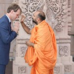 Canadian immigration minister Chris Alexander at Delhi Akshardham temple in July