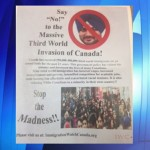 Racist pamphlet in Brampton