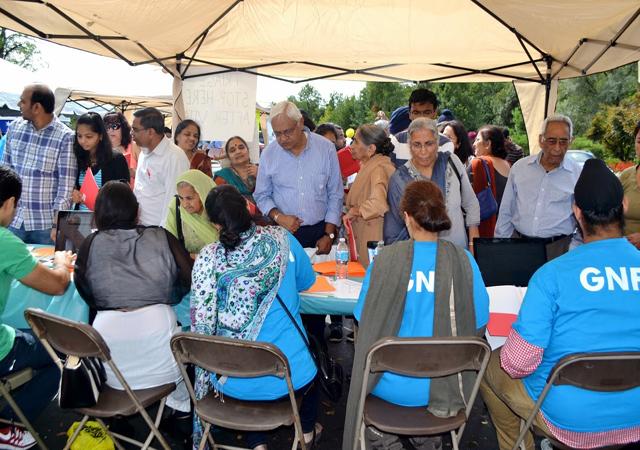 Rush at the health fair by Guru Nanak Foundation of America.