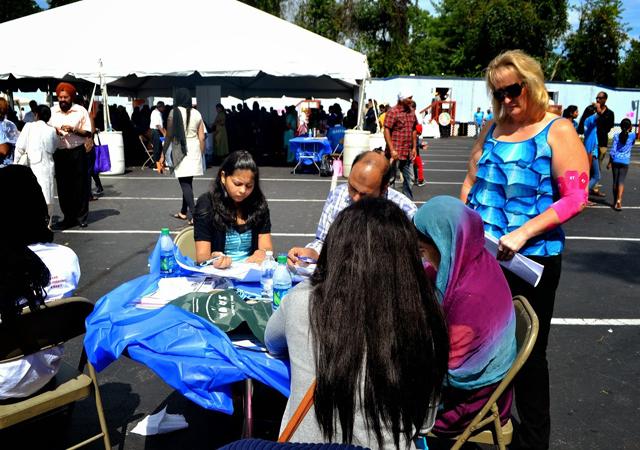 The first health fair by Guru Nanak Foundation of America in Maryland in progress