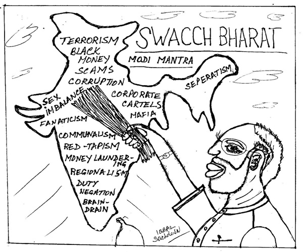 MYTOONS - Modi's Swacch Bharat