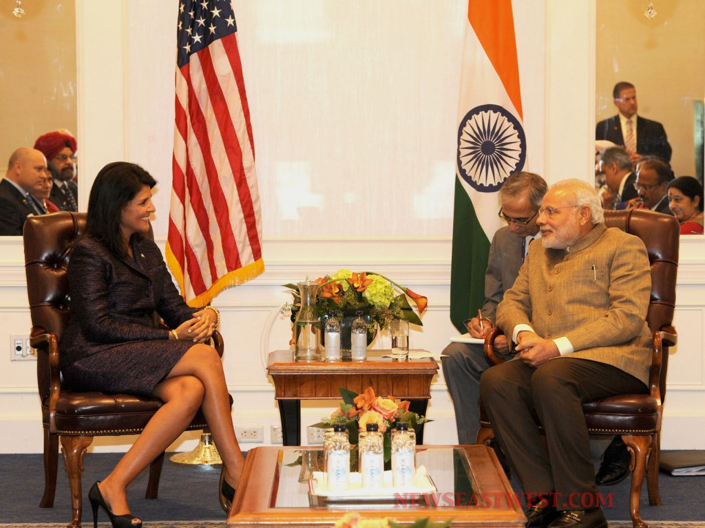 Narendra Modi meets Indian-American Governor Nikki Haley, Sikh and Jewish leaders
