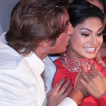 Shakti Kapoor kissing Pakistani actress Veena Malik
