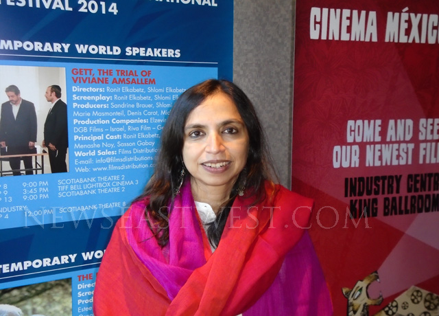 Shonali Bose - director of Margarita, With a Straw - at the Toronto International Film Festival 2014.