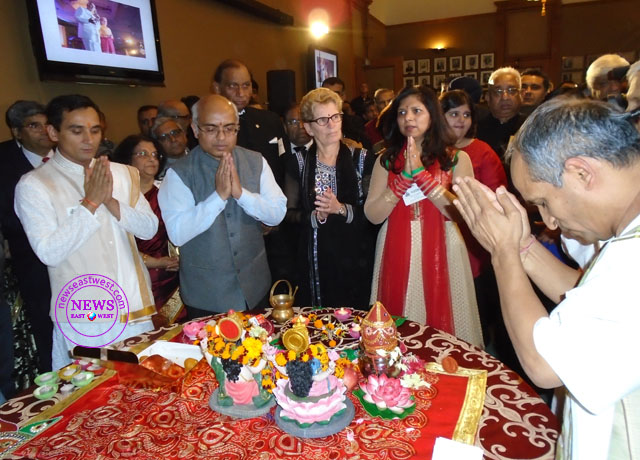 Premier Kathleen Wynne joins Panorama India in Diwali celebrations at Queen's Park in Toronto