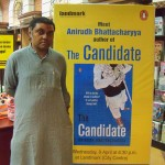 Anirudh Bhattacharyya at the launch of his first nove The Candidate