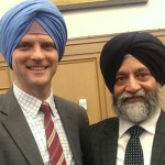 Canadian immigration minister Chris Alexander (left) in turban