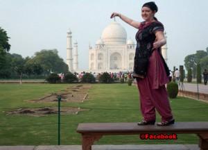 Wanda McDonald at the Taj Mahal