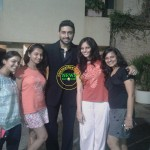 abhishek with his girl fans