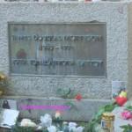 Jim Morrison's grave in Paris, France