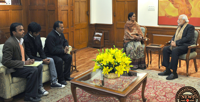 Prime Minister Modi meets Nirbahaya's family