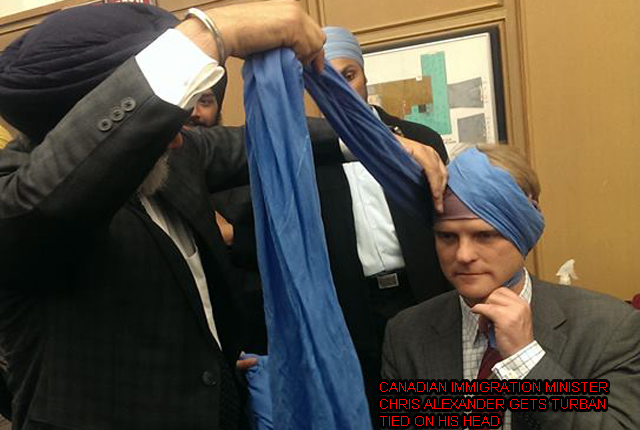 Canadian immigration minister Chris Alexander with turban