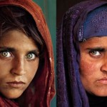 Afghan girl (left) who in 1984 became the face of National Geographic, now (right pic) living in Pakistan