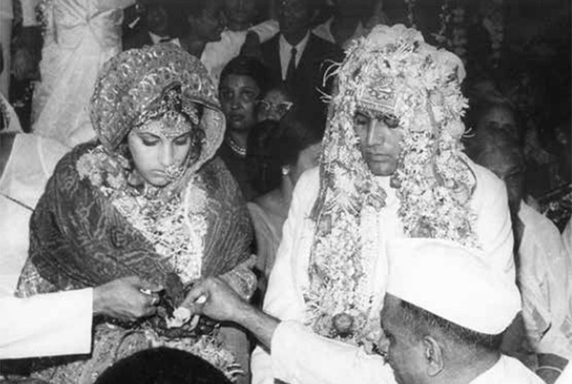 Rajesh Khanna-Dimple marriage pic