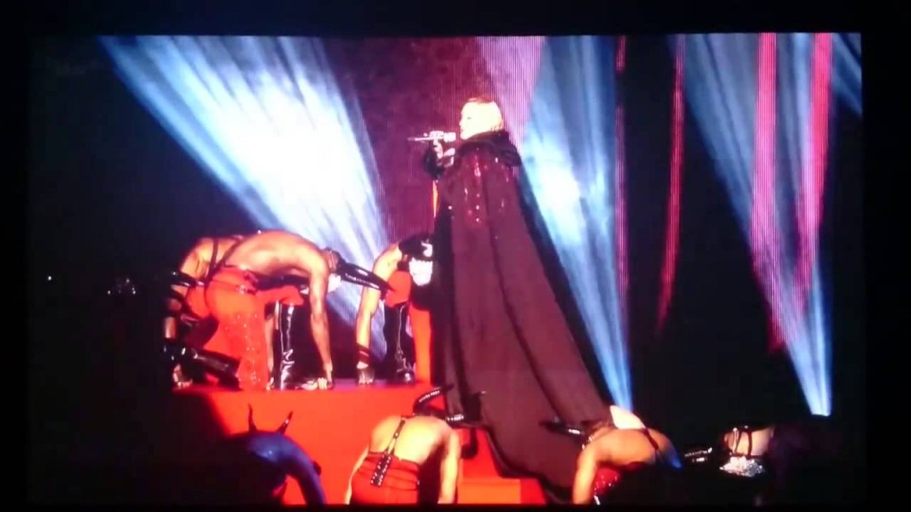 Madonna falls off stage during performance at BRIT Awards 2015