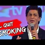 Shah Rukh says he will quit smoking