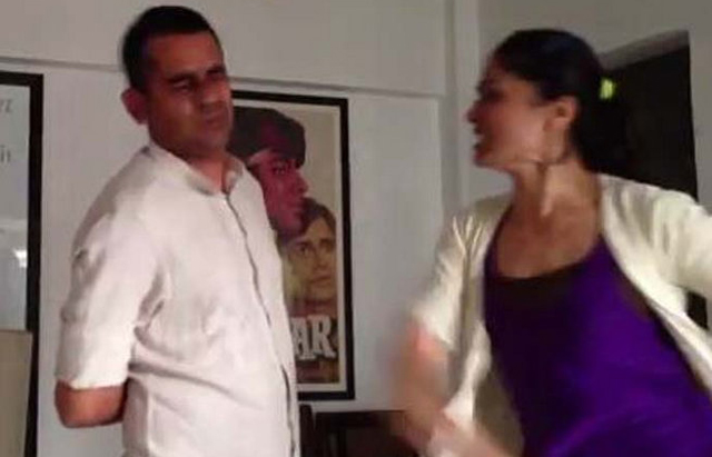 actress geetika tyagi slapping film director subhash kapoor