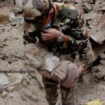 Baby rescued in Nepal