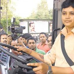 30-year-old Vankadarath Saritha has become the first woman bus driver in the Indian capital.