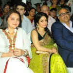 Jaya Prada (left) with Sridevi