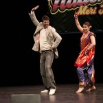 Celebrity Judge Javed Jaffrey with Sanskriti Arts Director Puja Amin