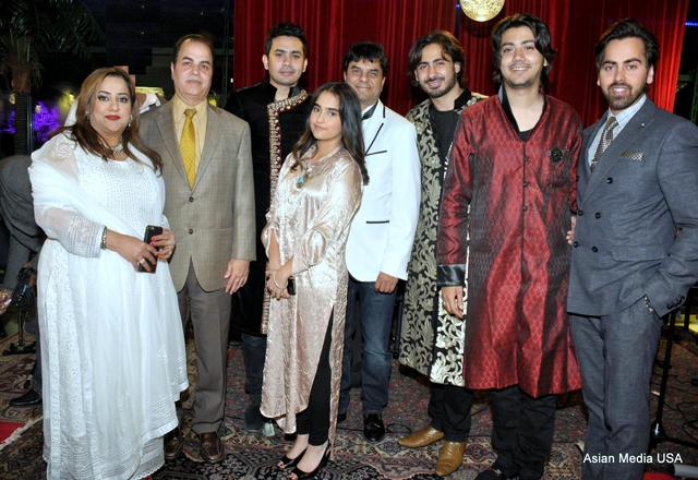 The Khan family with Raga Boyz