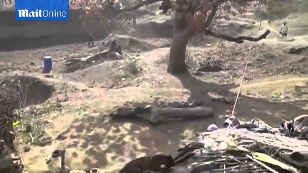 This braveheart Indian fights a leopard with a stick