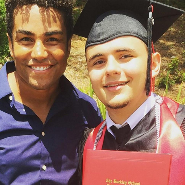 Cousin TJ Jackson (left) posted this picture with Prince Jackson on Instagram. Courtesy Instagram.