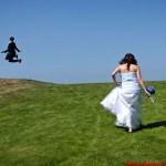 Fleeing groom