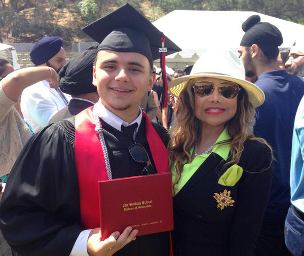La Toya posted on twitter this picture of herself and her nephew Prince Jackson at his school graduation.