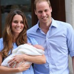 Prince William and Kate with first baby