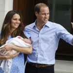 Prince William and Kate with the new baby