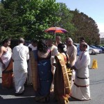 Wedding at temple