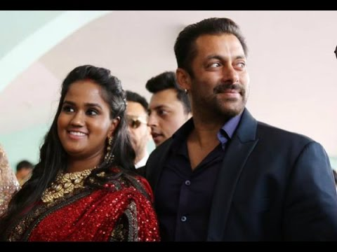 Salman attends sister Arpita's wedding reception in Mandi