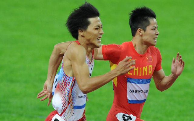 China's Su Bingtian becomes first Asian to run 100 metres under 10 seconds