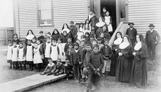 Native students at a residential school in Canada.
