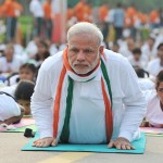 Modi leads International Yoga Day event in Delhi1