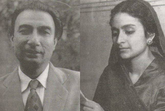 Sahir Ludhianvi (left) and Amrita Pritam. Amrita once told Khushwant Singh that Sahir Ludhianvi was the only person she ever loved. Sahir and Amrita met in Delhi.