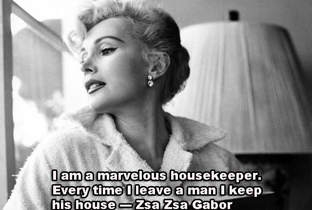 Marvelous housekeeper!