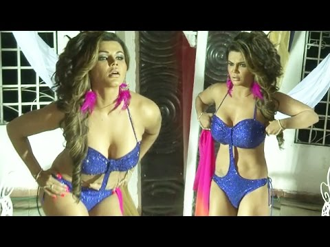 Rakhi Sawant dons bikini and does party Punjabi style