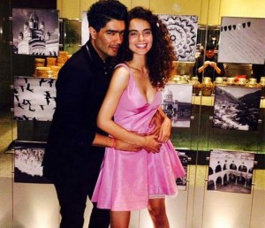 Kangana with Manish Malhotra