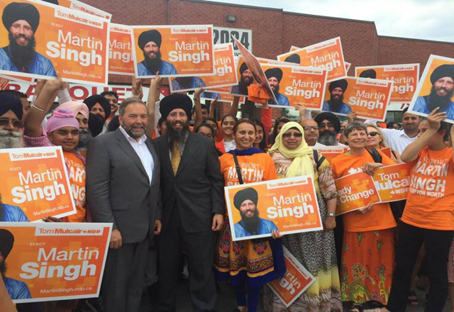 Martin Singh `Paaji' may become first white Sikh MP in Canada in October elections